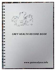 Cavy Health Record Book.